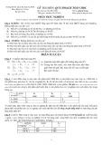 Đề thi môn Quy hoạch toán học năm học 2014-2015 - Đại học Sư phạm Kỹ thuật TP. HCM