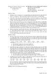 Đề thi môn Xác suất thống kê ứng dụng năm học 2013-2014 - ĐH Sư phạm Kỹ thuật TP.HCM