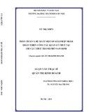 Luận văn Thạc sĩ Quản trị kinh doanh: Phân tích và đề xuất một số giải pháp nhằm hoàn thiện công tác quản lý thuế của Chi cục thuế thành phố Nam Định