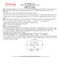 Đề thi học kỳ I môn Vật lý 11 nâng cao phần tự luận