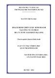 Luận văn Thạc sĩ Khoa học: Hoạch định chiến lược kinh doanh tại Công ty cổ phần bia và nước giải khát Hạ Long giai đoạn 2012 – 2015