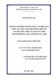 Luận văn Thạc sĩ Khoa học: Một số giải pháp nhằm nâng cao hiệu quả công tác đào tạo, bồi dưỡng đội ngũ cán bộ, công chức ở cơ quan UBND thành phố Hạ Long, tỉnh Quảng Ninh