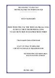 Luận văn Thạc sĩ Khoa học: Phân tích công tác thu thuế giá trị gia tăng ở Chi Cục thuế thành phố Hạ Long và xây dựng một số giải pháp hoàn thiện