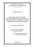 Luận văn Thạc sĩ Khoa học: Phân tích và đề xuất giải pháp nhằm hoàn thiện công tác quản lý thu Ngân sách Nhà nước tại Kho bạc Nhà nước thành phố Hạ Long, tỉnh Quảng Ninh