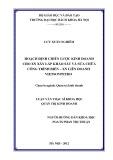 Luận văn Thạc sĩ Khoa học: Hoạch định chiến lược kinh doanh cho XN Xây lắp, Khảo sát và Sửa chữa Công trình biển thuộc XN Liên doanh Vietsovpetro