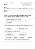 Bài kiểm tra định kỳ cuối kỳ I năm học 2016-2017 môn Lịch sử và Địa lý lớp 4 - Tiểu học Võ Miếu 1