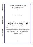 Luận văn Thạc sĩ Quản trị kinh doanh: Một số giải pháp nhằm phát triển hoạt động của Ngân hàng Phát triển Quảng Ninh