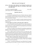 Tóm tắt luận văn Thạc sĩ Quản trị kinh doanh: Ứng dụng phần mềm kế toán FEDSoft lập Báo cáo tài chính hợp nhất cho các Tập đoàn, Tổng công ty ở Việt Nam