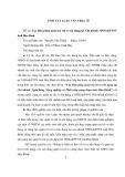 Tóm tắt luận văn Thạc sĩ: Các biện pháp quản trị rủi ro tín dụng tại Chi nhánh NHNo&PTNT tỉnh Hòa Bình