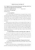 Tóm tắt luận văn Thạc sĩ: Nghiên cứu quá trình áp dụng hệ thống quản lý chất lượng HACCP tại Công cổ phần xuất nhập khẩu Thủy sản Quảng Ninh