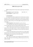 Tóm tắt luận văn Thạc sĩ: Giải pháp phát triển thị trường nội địa của ngành da giầy Việt Nam đến năm 2015