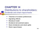 Lecture Fundamentals of finance management (10/E) - Chapter 14: istributions to shareholders - Dividends and share repurchases