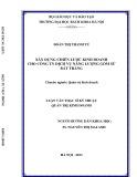 Luận văn Thạc sĩ Kỹ thuật: Xây dựng chiến lược kinh doanh cho công ty Dịch vụ Năng lượng gốm sứ Bát Tràng