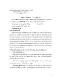 Tóm tắt luận văn Thạc sĩ: Phân tích đề xuất một số giải pháp hoàn thiện kiểm soát hệ thống sản xuất tại công ty TNHH Panasonic Electronic Devices Việt Nam