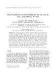 Đặc điểm phân bố của tuyến trùng ký sinh thực vật trong đất trồng cam Cao Phong, Hòa Bình