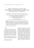 Nghiên cứu ảnh hưởng của một số tác nhân đến khả năng xử lý nước thải nhiễm các hợp chất Nitramin bằng quá trình Fenton và quang Fenton