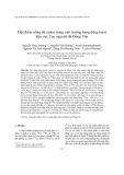 Đặc điểm nồng độ radon trong môi trường hang động karst khu vực Cao nguyên đá Đồng Văn