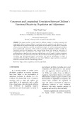 Concurrent and longitudinal correlation between children's emotional reactivity, regulation and adjustment