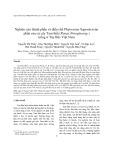 Nghiên cứu thành phần và điều chế Phytosome Saponin toàn phần của củ cây Tam thất (Panax Notoginseng ) trồng ở Tây Bắc Việt Nam