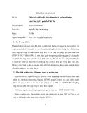 Tóm tắt luận văn Thạc sĩ: Phân tích và đề xuất giải pháp quản lý nguồn nhân lực của Công ty Cổ phần In Phú Thọ