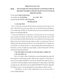 Tóm tắt luận văn Thạc sĩ: Một số giải pháp đẩy mạnh hoạt động dịch vụ khách hàng cá nhân của Ngân hàng Nông Nghiệp và phát triển nông thôn Việt Nam trên địa bàn Thành Phố Nam Định