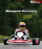 Ebook Managerial accounting (2010 edition): Part 1
