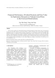 Financial performance, dividend payment and firm value an exploratory research on Vietnam listed firms in the food and drink industry