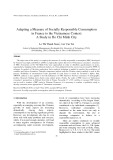 Adapting a measure of socially responsible consumption in France to the Vietnamese context: A Study in Ho Chi Minh city