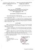 Quyết định số 117/QĐ-LĐLĐ (Liên đoàn Lao động tỉnh Sơn La - Huyện Bắc Yên)