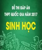 Đề thi đáp án THPT Quốc gia năm 2017 môn Sinh học (Mã đề 221)