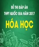 Đề thi đáp án THPT Quốc gia năm 2017 môn Hóa học (Mã đề 208)