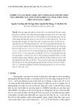 Tạp chí khoa học: Nghiên cứu xác định Cadmi, chì và đồng bằng phương pháp Von-Ampe hòa tan Anot sử dụng điện cực màng thủy ngân trên nền Paste Carbon