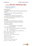 Tài liệu Hóa học 8 - Chương 2: Phương trình Hóa học