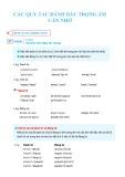 Các quy tắc đánh dấu trọng âm cần nhớ