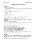 Đề cương ôn tập học kì 1 môn Vật lý lớp 6
