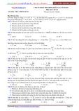 Đề luyện thi PEN-I 2017 môn Vật lý - Chuẩn bị kì thi THPT Quốc gia (Đề 7)