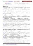 Đề luyện thi PEN-I 2017 môn Vật lý - Chuẩn bị kì thi THPT Quốc gia (Đề 4)