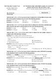 Đề thi THPT Quốc gia môn Tiếng Anh năm 2017 - Mã đề 401