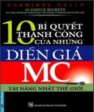 Ebook 10 bí quyết thành công của những diễn giả MC tài năng nhất thế giới: Phần 2