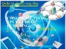 Bài giảng Công nghệ thông tin và chuỗi cung ứng - TS. Bùi Quang Xuân