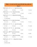 300 câu trắc nghiệm về hàm số