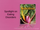 Lecture Discovering nutrition - Chapter 9a: Spotlight on eating disorders