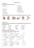 Đề khảo sát chất lượng môn tiếng Anh lớp 6