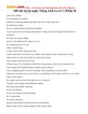 100 bài luyện nghe tiếng Anh Level 1 (Phần 8)