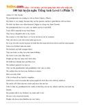 100 bài luyện nghe tiếng Anh Level 1 (Phần 7)