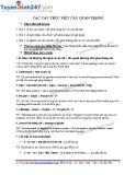 Các cấu trúc viết câu quan trọng trong tiếng Anh