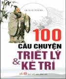 100 câu chuyện về triết lý & kẻ trí: phần 2