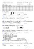 Đề thi HK 2 môn Toán lớp 10 - Trường THPT Tuy Phong - Mã đề 409