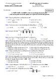 Đề thi HK 2 môn Toán lớp 10 - Trường THPT Lý Thường Kiệt - Mã đề 201