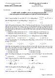 Đề thi HK 2 môn Toán lớp 10 - Trường THPT Lý Thường Kiệt - Mã đề 204